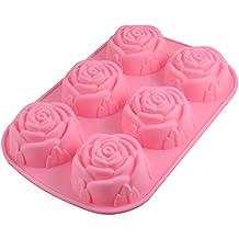 Molde De La Forma De SEIS 3D Rosas De Silicona