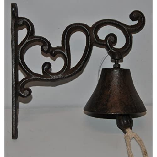 Door Bell Cast Iron Vintage Style Brown/Black Ornate