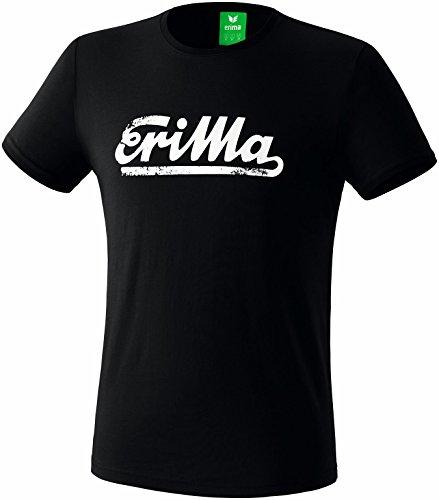 Erima Herren Retro T-Shirt, schwarz, XL