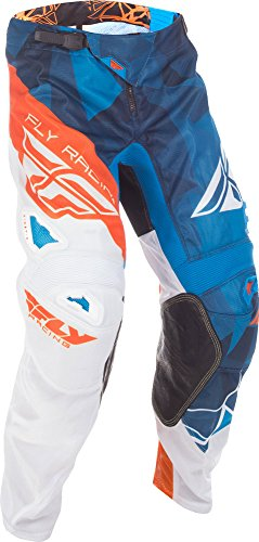 Fly Racing & Motocross Mesh Hose blau-weiß-orange Fahrerhose -