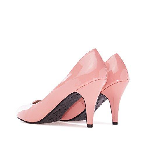 Andres Machado.AM422.Escarpins . Forme et talon classiques de 9 cm. Pointe de pied arrondie. Pour toutes les pointures de la 32 à la 45.… Verni Rose