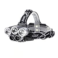 USB Rechargeable LED Headlamp Flashlight | Running Lights for Runners and Headlight for Camping, Hunting and Fishing | Waterproof and Powerful Head Lamp with 8000-15000 Lumens | Multiple Selections