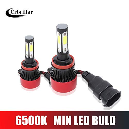 Crbrillar 4 Side COB 120W / Pair 16000lm / set H4 Hi Lo H7 H11 9005 9006 Lampadine for fari a LED for auto Lampadine for fari a led for auto 12V 24V faro (Socket Type : 9005/HB3)