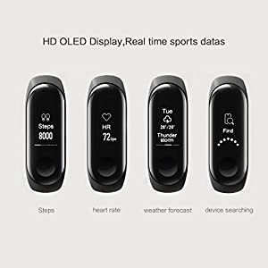 Xiaomi Mi Band 3 Fitness Tracker Pulsera, Pulsómetro Smartwatch Inteligente con 0.78 OLED Monitor de Actividad Pulso cardiaco Rastreador Reloj Despertador Compatibilidad con iOS, Android