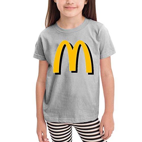 Solid-footed Sleeper Pajamas (Kinder Jungen Mädchen Shirts McDonalds T Shirt Kurzarm T-Shirt Für Tollder Jungen Mädchen Baumwolle Sommer Kleidung Grau 5/6 T)