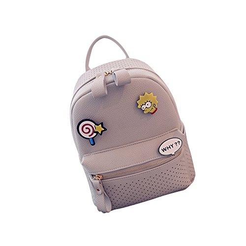 Wtus Ladies College Hand Bag Tracolla Satchel Versione Coreana Del Semplice Zainetto Piccolo Zainetto Grigio