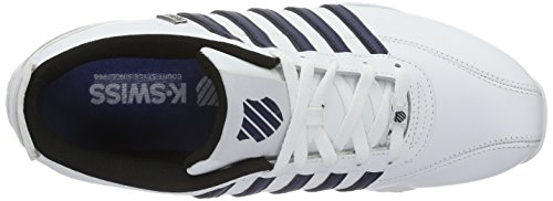 K-Swiss Arvee 1.5 Speckle, Baskets Basses Homme Blanc (White/Navy/Black 182)