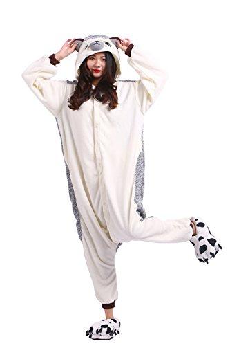 YUWELL Hedgehog Cospaly Kigurumi Pyjamas Adult Tierkostüme Halloween Costume Animal Pajama Onesie Kostüm, Dornen Igel M (Height:160-170cm)