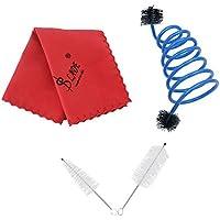 ammoon Trompeta Mantenimiento Conjunto de Kit de Cuidado de Limpieza Incluyendo el Cepillo de la Boquilla Cepillo de Válvula Cepillo de Serpiente Flexible Paño de Limpieza