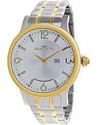 Lindberg & Sons LSSM205B - Reloj para hombre de cuarzo con correa de acero inoxidable color plata