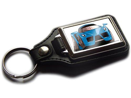 FERRARI ENZO Koolart Auto Premium Leder und Chrom-Schlüsselring in verschiedenen Farben!, blau