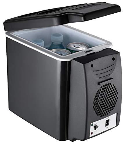 MEISHENG Auto Mini Kühlschrank kühlen und warmen elektrischen Kühlbox, Dual Voltage Auto Kühlschrank 12 V für Auto und Zuhause, 6L tragbare Kühlbox für die Reise