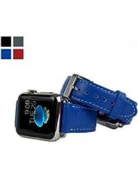 Snugg™- Apple Watch – Correa De Reloj De Cuero Verdadero (Azul) – 38 mm Correa Para el Apple Watch