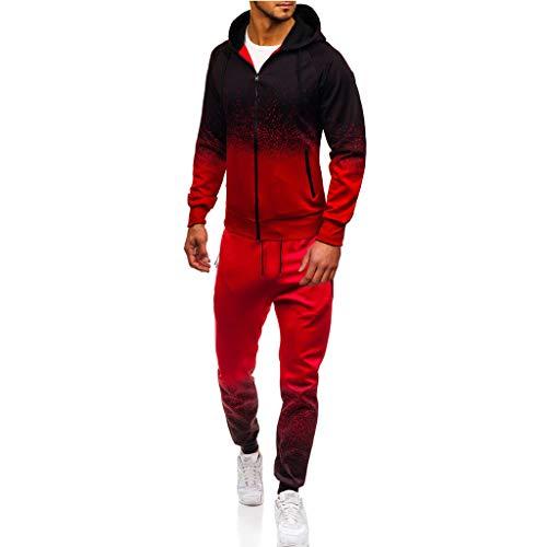 Zolimx Mode Jogginganzug Herren Anzüge Herbst Winter Packwork Absolvierte Schlank Langarm Hoodie Top Bluse Kordelzug Hosen Hosen Sets Sport Anzug Trainingsanzug