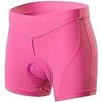 Ciclismo mujeres ropa interior, pantalones elástico y liviano 5D acolchado relleno de gel Pantalones cortos de ciclista transpirable de secado rápido antichoque MTB, for aplicaciones en exterior ciclo