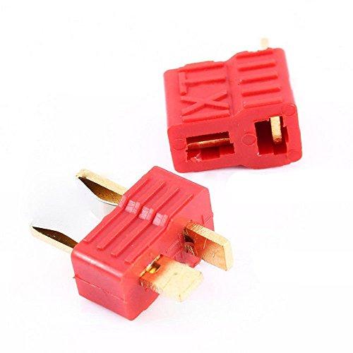 Tradico® 5Sets Deans Plug T-Shaped Connector Male +Female for Rc Lipo Battery Esc Motor