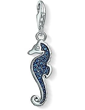 Thomas Sabo Damen-Charm Blaues Seepferdchen 925 Sterling Silber 1342-644-1