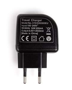DURAGADGET Chargeur Secteur de voyage USB puissant (2 Amp) idéal pour Samsung Galaxy Tab 2 (10.1) P5100 et Samsung Galaxy Tab 2 (10.1) Wi-Fi P5110 - Garantie 5 ans