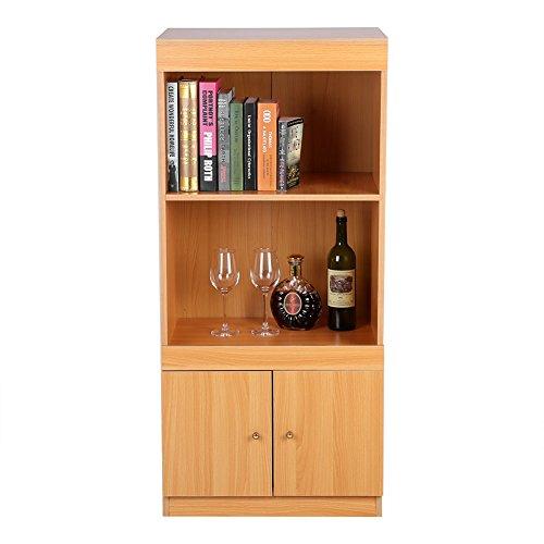 Zerone - Estantería con puertas, armario de madera moderno para almacenamiento, estantería...