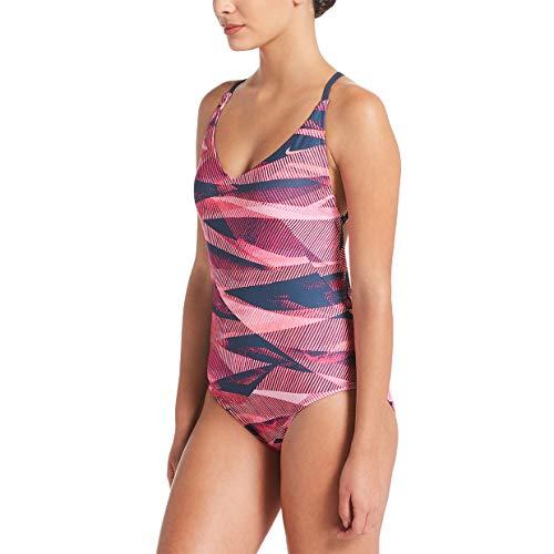 Nike Swim Lineup Crossback - Bañador para Mujer Gasa Rosa. M