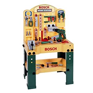 theo klein 8475 bosch workstation mit akkuschrauber spielzeug. Black Bedroom Furniture Sets. Home Design Ideas