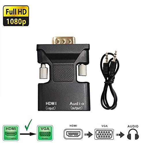 1080P HDMI Buchse auf VGA Stecker Konverter Adapter FDG mit 3,5 mm Audioausgang -