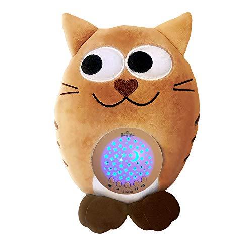 Jouet en Peluche Babymati pour dormir, Carillon en Peluche et Veilleuse avec projecteur d'étoiles et de lumières, Peluche en forme de chat pour le Sommeil du Bébé avec quinze Mélodies