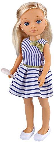 Nancy - Muñeca Un día con Amigas, rubia con vestido azul y blanco (Famosa 700013444)