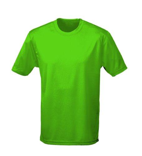 Cooles Grünes T-shirt (Just Cool Performance T-Shirt, atmungsaktiv, lime, Gr.3XL)