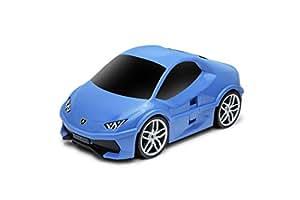 PACKENGER Lamborghini Huracan Kinderauto Koffer Trolley (Blau)