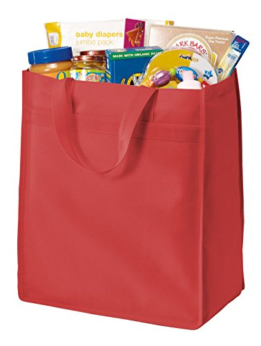 Port Authority® Standard Polypropylene Grocery Tote. B159 Red OSFA