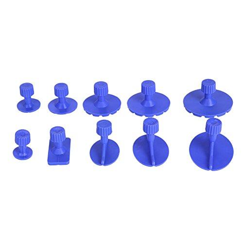 Fenghong Auto Dent Puller, Auto Body Dent Reparatur Werkzeuge Pull Tabs Reparatur Kit Multifunktions 10 Stücke Kunststoff Entfernung Werkzeug Saugnapf (Auto-kratzer-entfernung-kit)