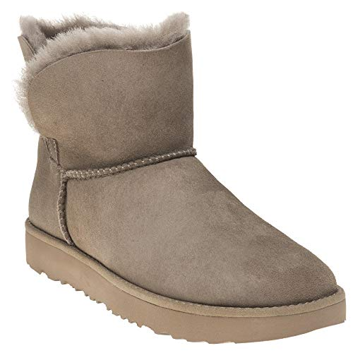 UGG Classic Cuff Mini Donna Marrone Stivali-UK 6