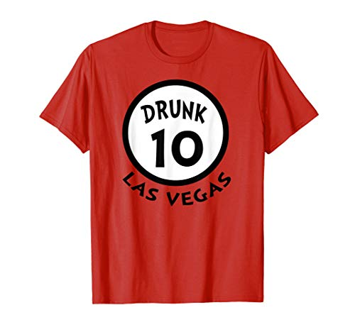 Betrunkene 10 lustige Gruppen-Hemd-Neuheits-Andenken Vegas