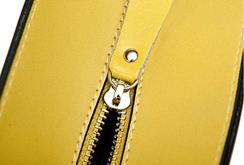 Tracolla In Pelle Ms. Grande Capacità Yellow
