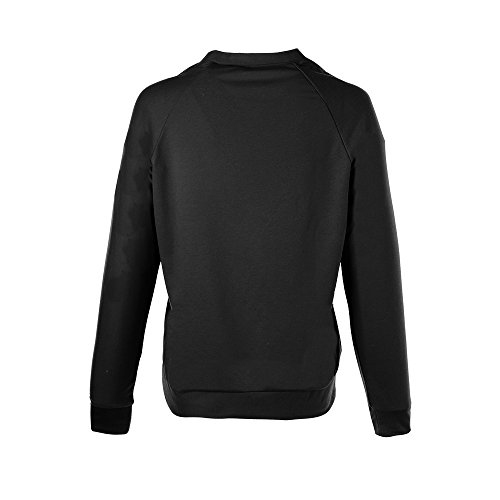 Dihope Femme Printemps Automne Sweat à Manches Longues Sweat-shirt Col Rond Sweater Pull Casual Top Impression Noir
