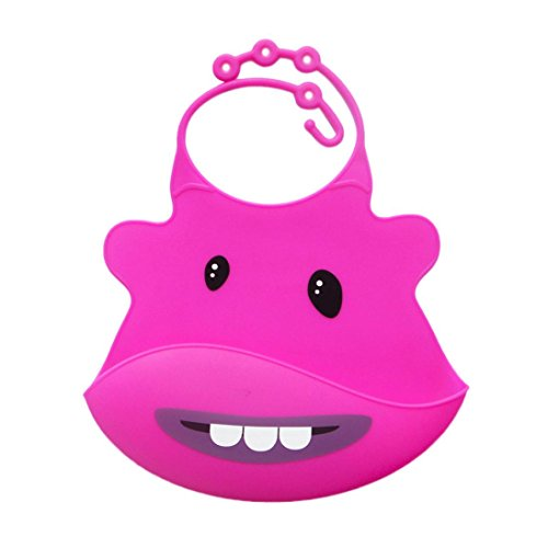 pfend Lätzchen Kind Säugling Lätzchen Baby Weich Silikon Lätzchen Wasserdicht Speichel (Pink) (Led Baby Halloween Kostüm)