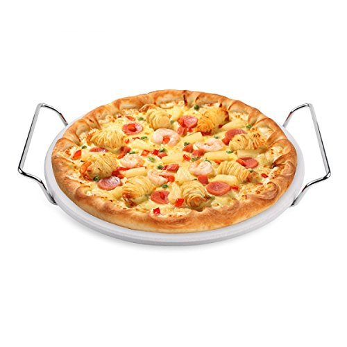 Hero Pizza Piedra 33 cm de cordierita. con metalg deslizable para Gas &...