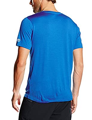 Ortovox Bubble Voice Merino Print Short Sleeve Shirt - blue ocean