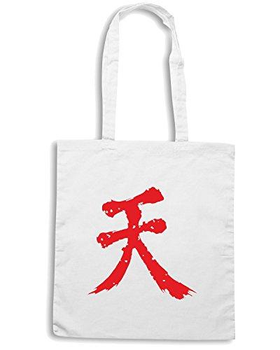 T-Shirtshock - Borsa Shopping TGAM0064 Shun Goku Satsu Bianco