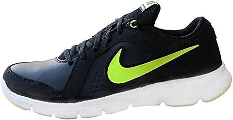 Nike Jungen Flex Experience Ltr (GS) Laufschuhe, Schwarz / Grün / Weiß (Schwarz / Volt-Weiß), 38