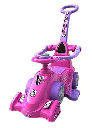 Chipolino ROCFH0153PI Ride on Kinderauto Formula mit Griffen, rosa