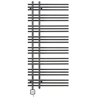 Heated Towel Rail, Chrome Straight, Incl. Heating Element, Fix and Delivered - Chrome, 1300h x 600b