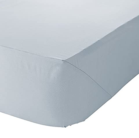 Catherine Lansfield Non Iron Percale King Fitted Sheet - Duckegg
