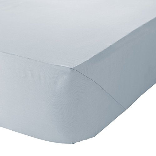 Catherine Lansfield Non Iron Percale Polycotton Single Fitted Sheet Duckegg