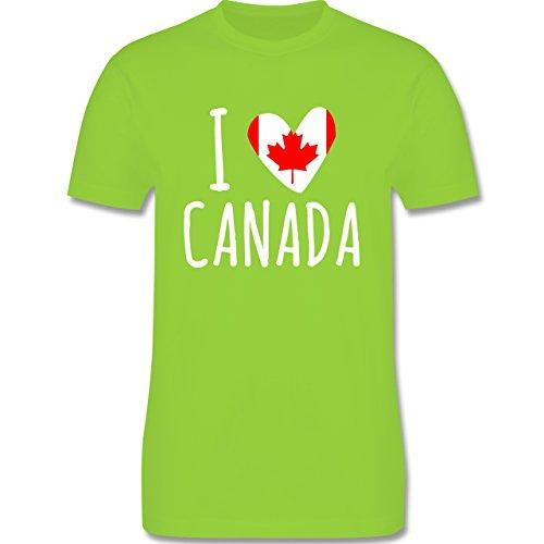 I love - I love Canada - Herren Premium T-Shirt Hellgrün