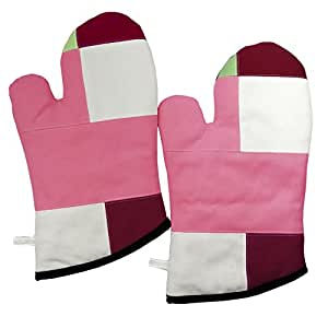 [Sakura] Heat Patchwork Resistant Gloves Four Durable / Mitaines Toile 2-Pack