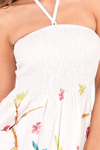 Dannii Matthews - Jupe - Bandeau - À Fleurs - Femme blanc/rouge