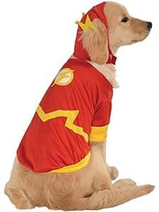 Costume Rubis DC héros et méchants Collection pour Animal Domestique Costume-Flash