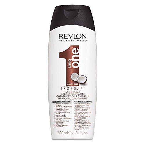 Revlon Professional Uniq One Coconut Hair & Scalp All in One Conditioning Shampoo mit einem tropischen Kokosnuss-Duft, 300 ml